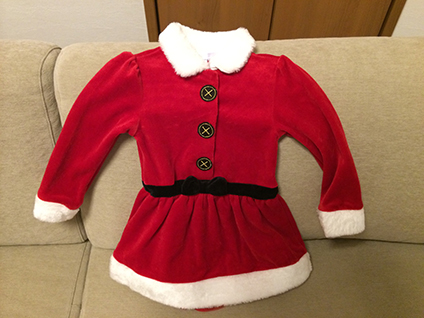 ベビーザらスのクリスマスワンピース